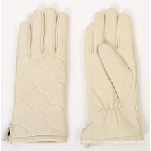 Ladies Fashion Sheepskin Leather Driving Gloves (YKY5164)