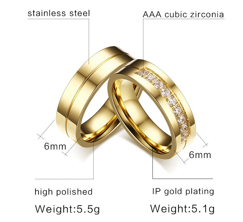 gold wedding ring set