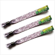 Pulsera de tela deportiva con cerradura de plástico para regalo promocional (XD-wb-01)