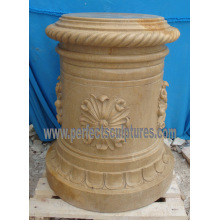 Stone Granite Marble Pedestal for Garden Flower Planter (BA070)