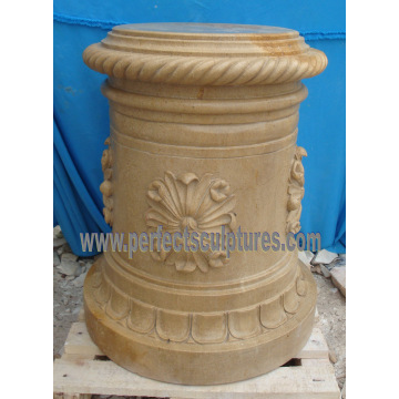Stone Granite Marble Pedestal for Garden Flower Planter (BA070)