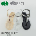Ladies New Design Flat Pvc Sandals
