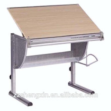 Home usage Metal Wooden Adjustable Drawing Table