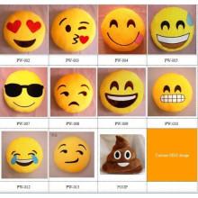 Almohadas lindas baratas al por mayor del emoji cojines de emoji de la felpa de encargo