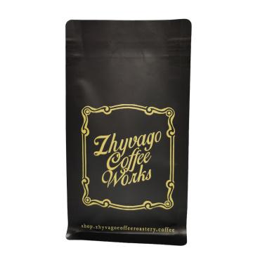 пакетик для кофе с квадратным дном и клапаном
