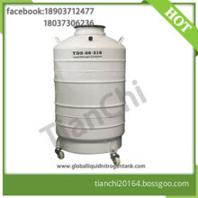 Liquid nitrogen transport container 60 Liter gas cylinder 60L with Straps 6 Canisters factory outlet