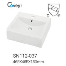Lavabo de cerámica vendedor caliente del fregadero del recipiente con Cupc / Ce (A-SN112-2-037)