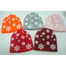 All over printing knitted hat