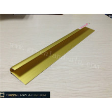 Alumínio Radius Tile Trim em Anodizado Matt Gold Cor