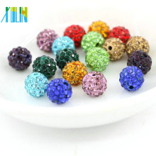Rhinestone pavimentado en bolas de arcilla Shine Round Fashion Jewelry Making Materials