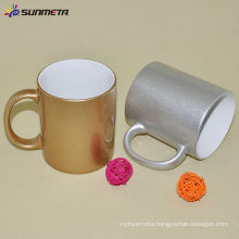 wholesale cups mugs to sublimation 11oz golden silver cup printing cup china supplier
