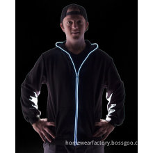 Colorful light up zip hoodie