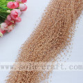 Coffee Colors Faux Wire Pearl Beaded Garland Trimming for Wedding Tree Decoration