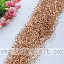 High Quality for Pearl Garland Coffee Colors Faux Wire Pearl Beaded Garland Trimming for Wedding Tree Decoration  supply to Romania Supplier