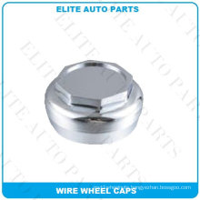 Chrome Wire Wheel Cap in Sold Brass