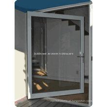 Portas de pivô de alumínio de dupla janela