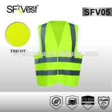 EN ISO 20471 novo estilo de segurança vestuário de proteção 100% poliéster olá vestidos colete vestuário reflexivo de segurança