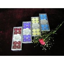 Цветная ароматическая свеча Tealight в картонной упаковке