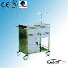 Stainless Steel Hospital Medical Medicine Trolley (Q-34)