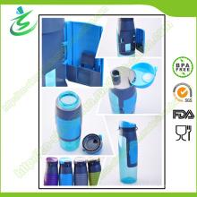750 Ml Tritan Wasserflasche mit Aufbewahrung, BPA frei