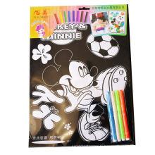 enfants mignon coloriage personnalisé velours floue posters