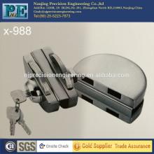 Хромированная нержавеющая сталь 304 двойная наполовину круглая головка двойная стеклянная дверная блокировка плюс ручное действие