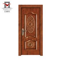 Nouveau style de luxe accepté Oem Steel Wood Men Designs de porte