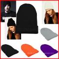 Slouchy Beanie hiver chaud Knit Ski Skater hip-hop chapeau hommes unisexe