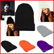 Громоздкая beanie зимние теплые вязать лыж скейт хип-хоп женщин шляпа мужские унисекс