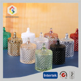 Diamond cut glass jars for candles