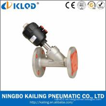 Válvula de asiento de ángulo neumático de gran tamaño DN80