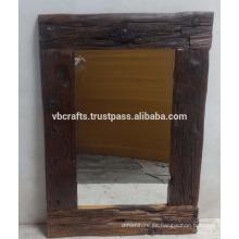 Reciclado viejo marco de madera de pino