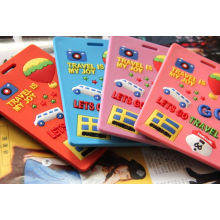 Fashionable Custom Soft PVC Silicone Rubber Label and Luggage Tag
