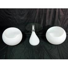 Barra de cambio de color iluminada mesa de café LED (g008)
