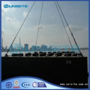 Stål båt ponton för muddring och marina konstruktion
