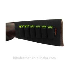 Buttstock Shell Titulaire Shotgun Recoil Pad Bande élastique Noir