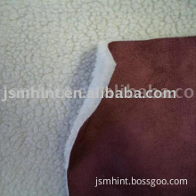 micro suede bonded fabric with lamb fur