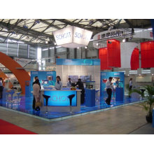 design and make customize booth exhibition display with floor system from shanghai OEM factory 09