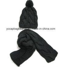 Men′s Winter Hat Scarf Set