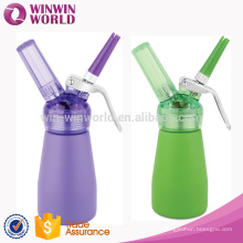 Mini Whipped Cream Dispenser (250ml), Cream Whipper with 3 Decorating Nozzles - Uses Standard N20 Cartridges