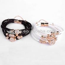 Modeschmuck Zubehör Leder Armband mit Druckknopf in Yiwu