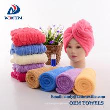 Ate el turbante seco de la toalla de pelo de microfibra para el turbante de las mujeres