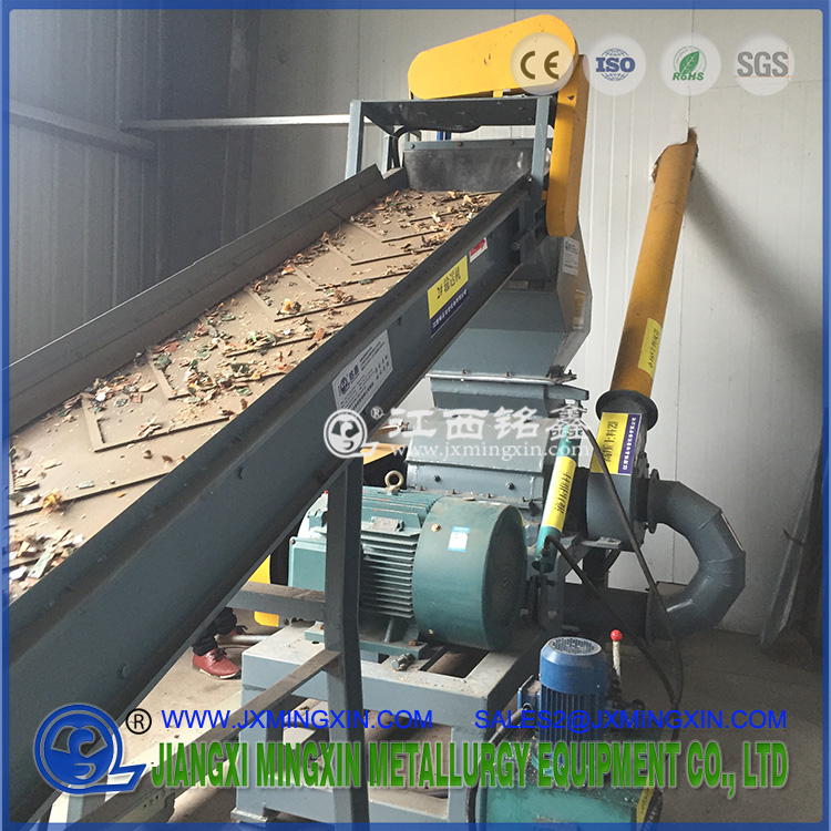 PCB fine crusher with hydraulic push rod