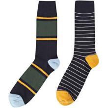 15PKSC03 neuesten Kontrast Farbe Streifen Baumwolle Spandex Mann Socken