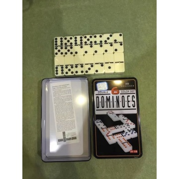 Ivory Dominoes In Tin box