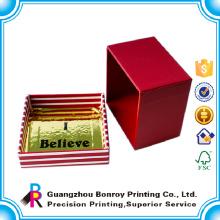 Caja de papel preciosa de la joyería del grado superior del diseño de la moda de la forma del OEM