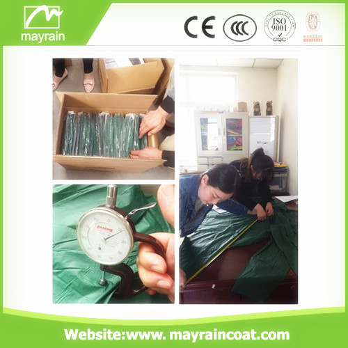 Wholesale PE Adult Raincoat