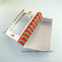 Caixa de presente de papel de cartão de design personalizado com janela de PVC transparente