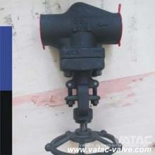 A105 & A216 Wcb Cl900 & Cl1500 & Cl2500 Válvula de globo con casquillo atornillado