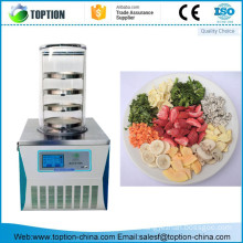 China mini small vacuum food freeze dryer lyophilizer machine for home /lab on sale